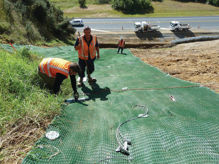 Slips on New Zealand roads