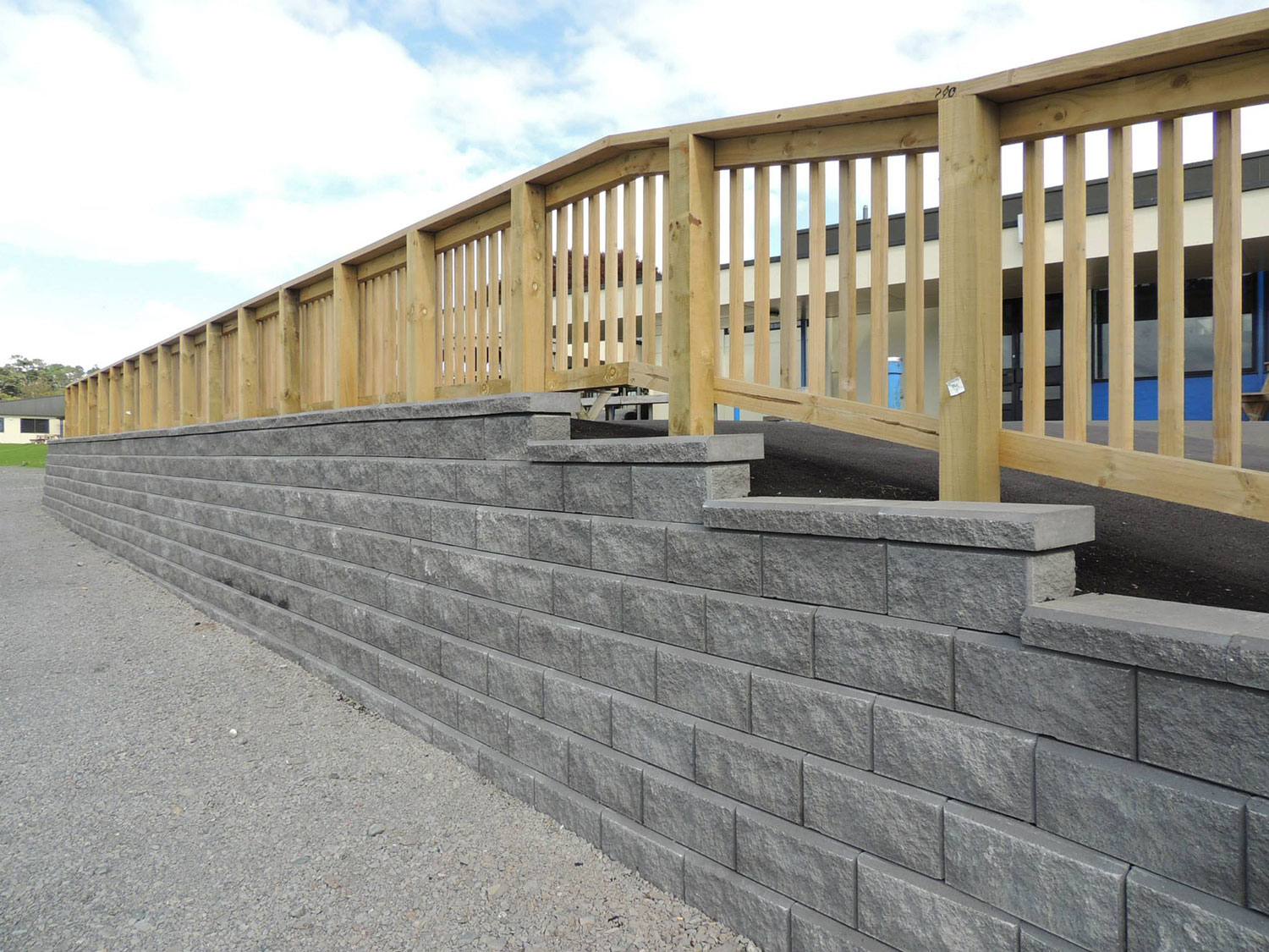 Allan Block 174 Segmental Retaining Wall System New Zealand